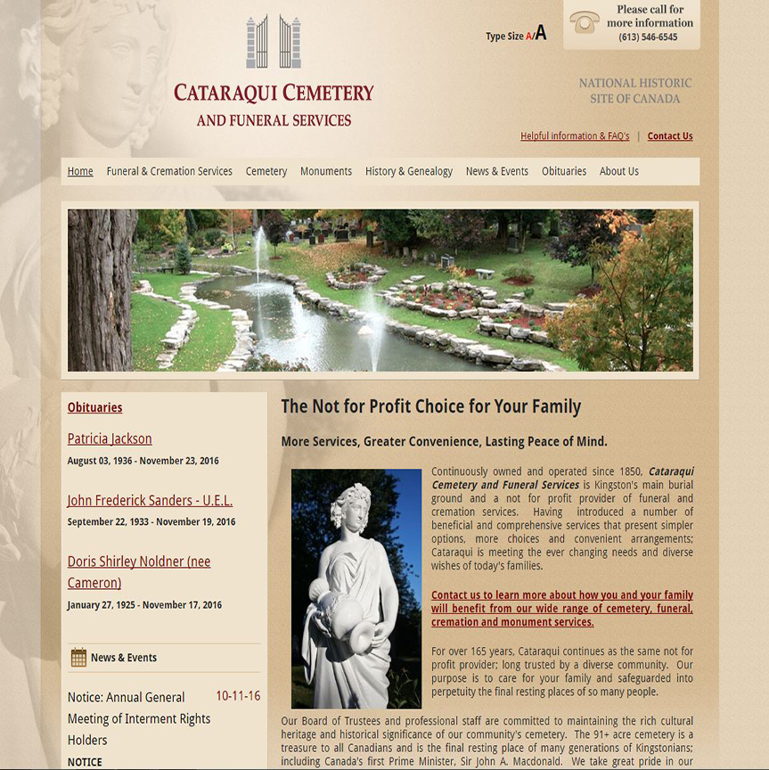 Cataraqui Cemetery and Funeral Services